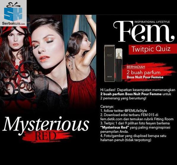 Kuis Fem Twitpic Berhadiah 2 Parfum Boss Nuit Pour Femme