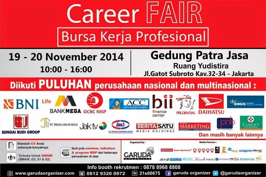 Tiket Gratis Career Fair Jakarta 19-20 November 2014