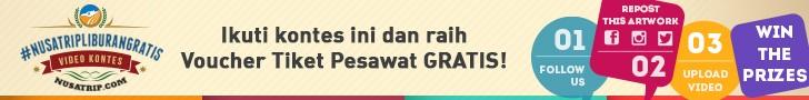 Kontes Berhadiah Tiket Pesawat Gratis dari Nusatrip