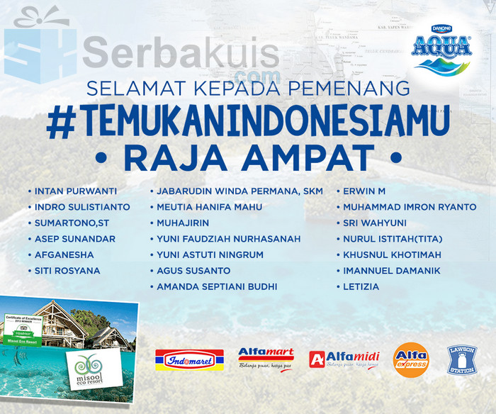 Pemenang Aqua Temukan Indonesiamu