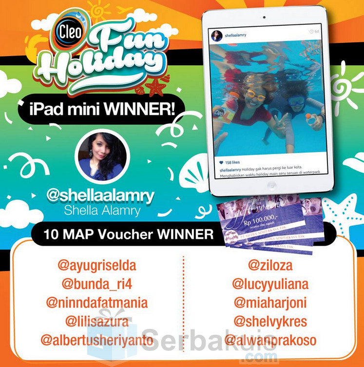 Pemenang Cleo Fun Holiday