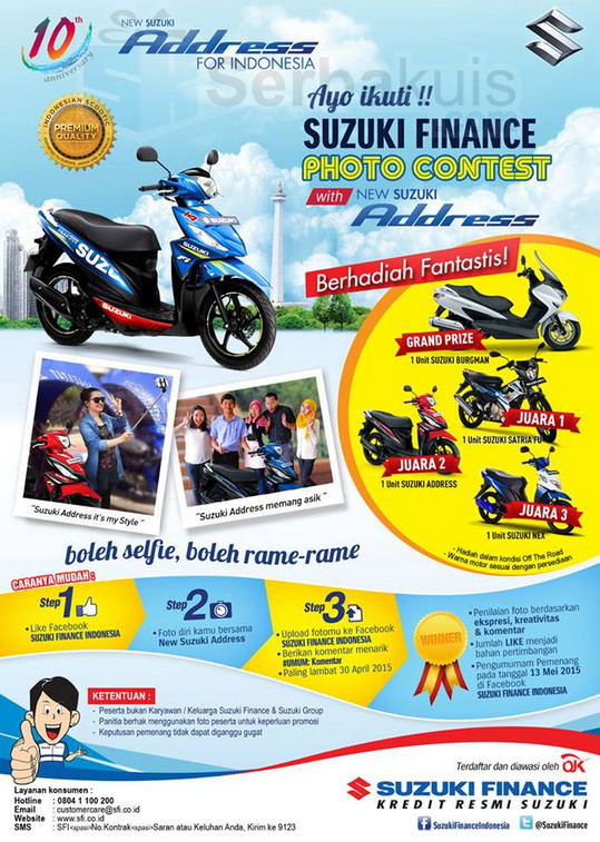 Suzuki Finance Photo Contest With new Suzuki Adrress