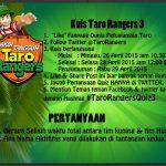 Kuis Taro Rangers 3 Berhadiah PSP & Nokia Asha - Halo sobat serbakuis, untuk kamu yang mau mendapatkan hadiah konsol game PSP dan handphone Nokia Asha, jangan lewatkan kesempatan berikut ini. Ikuti kuis Taro Rangers 3 yang diadakan di twitternya TaroRangers. Gampang kok hanya menjawab pertan