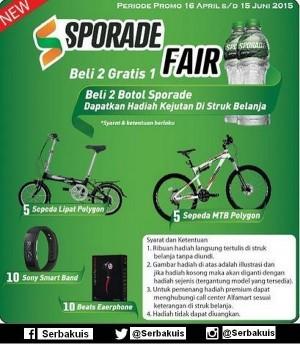Promo Sporade Fair Di Alfamidi Berhadiah 10 Sepeda