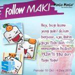 Kontes Foto Follow Maki Berhadiah 3 Pulsa & Boneka per Minggu