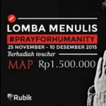 Kontes Menulis Pray for Humanity Okezone