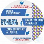 Kontes Hari Gizi Nasional 2016 Berhadiah Total 15 Juta Rupiah