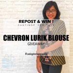 Cantinge Heritage Instagram Giveaway Berhadiah 1 Chevron Lurik Blouse