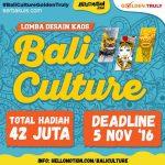 Lomba Desain kaos Bali Culture / Budaya Bali