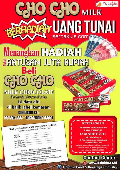 Cho Cho Milk Berhadiah Uang Tunai