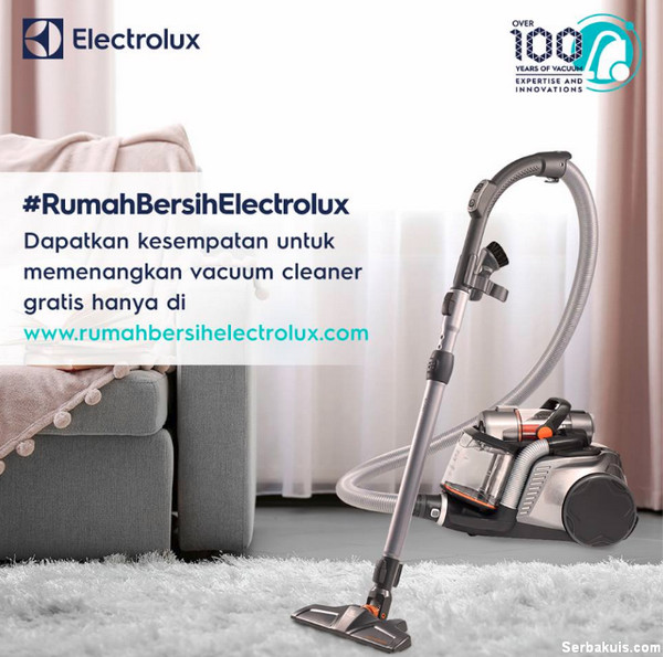 Kuis Rumah Bersih Electrolux Berhadiah 4 Unit Vacuum Cleaner Gratis