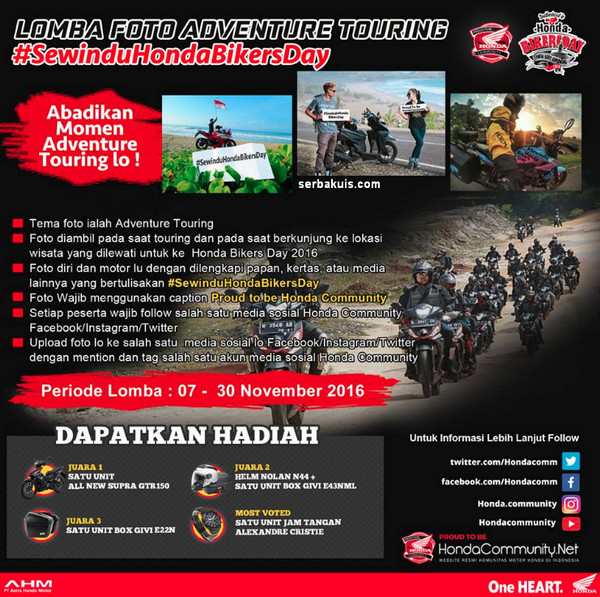 Sewindu Honda Bikers Day - Adventoure Touring #SewinduHondaBikersDay
