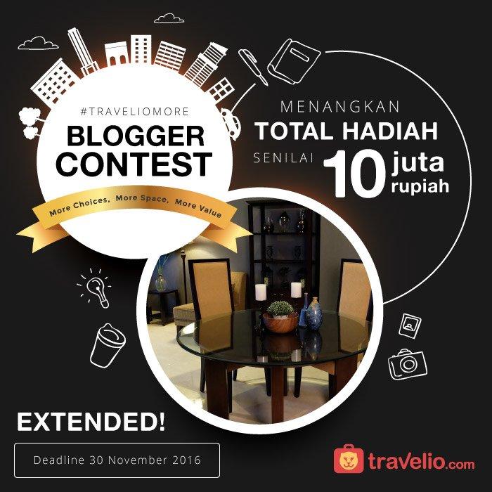 Blogger Contest Travelio More