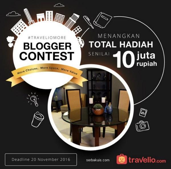 Lomba Menulis Blog Travelio More Berhadiah Total 10 Juta Rupiah