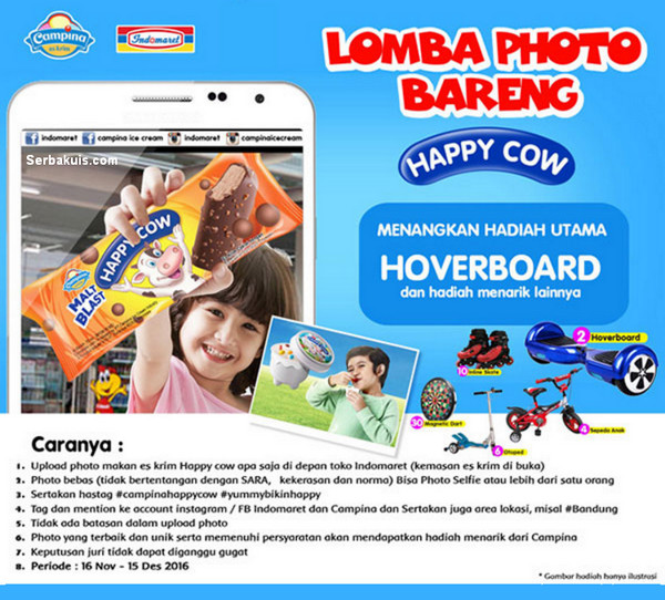Lomba Photo Bareng Happy Cow Berhadiah Hoverboard, Sepeda, Otoped, dll