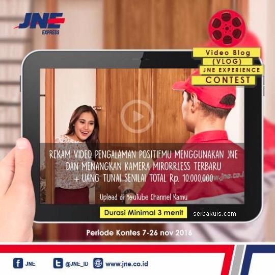 Lomba Vlog JNE Experience Berhadiah 3 Kamera Keren + Uang 10 Juta