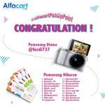 Pemenang Alfacart PickUp Point Berhadiah Kamera Mirrorless