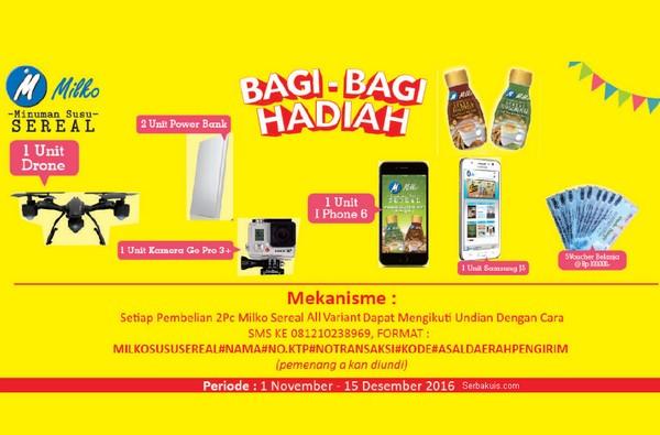 Promo Undian Milko Alfamidi Bagi-Bagi Hadiah Drone, Gopro, iPhone 6, dll