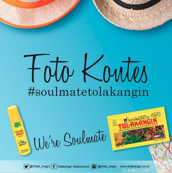 Lomba Foto Soulmate Tolak Angin Berhadiah 3 Smartphone + Voucher Hotel Tentrem