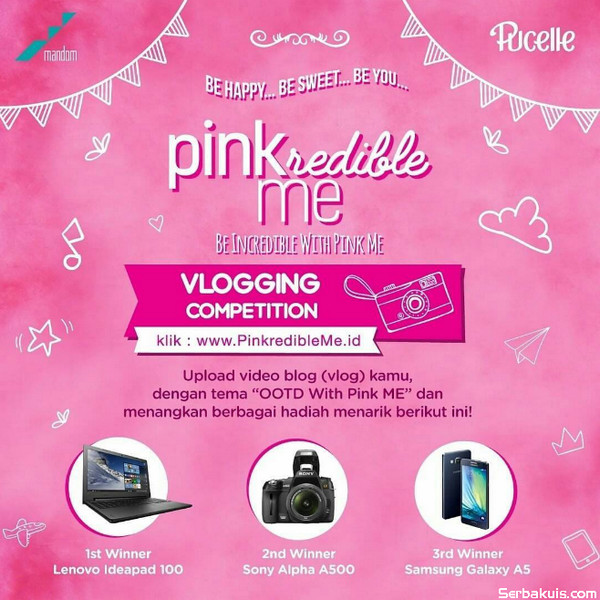 Be Incredible With Pink Me Vlogging Competition