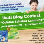 "Ikuti Blog Contest ""Solidan Sahabat Lambung"" Periode 2"