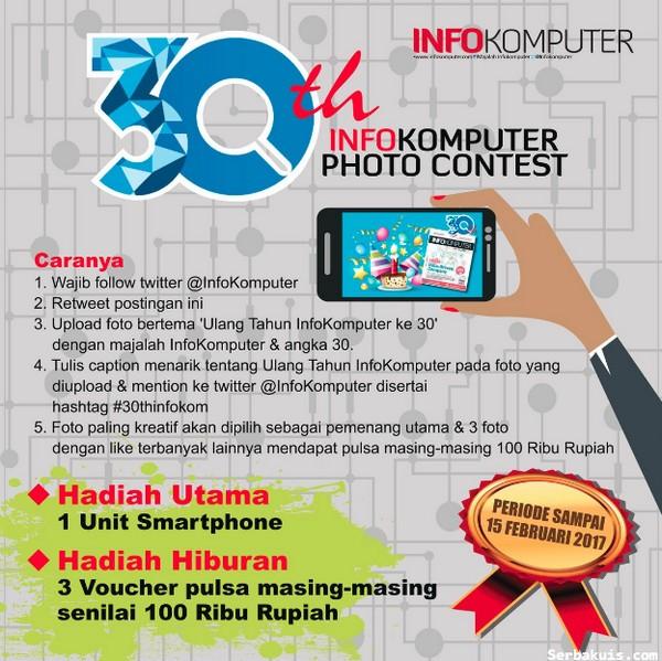 Lomba Foto 30 Tahun Info Komputer Berhadiah Smartphone & Pulsa 300K