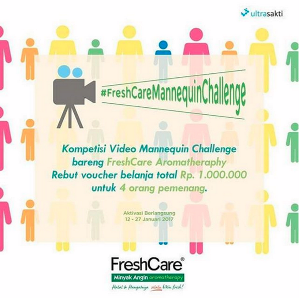 Lomba FreshCare Mannequin Challenge Berhadiah Voucher Belanja 1 Juta