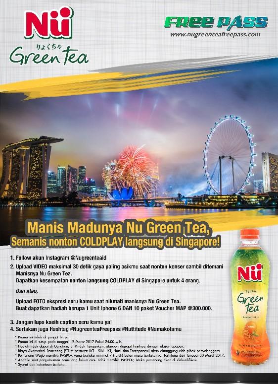 Nu Green Tea Free Pass