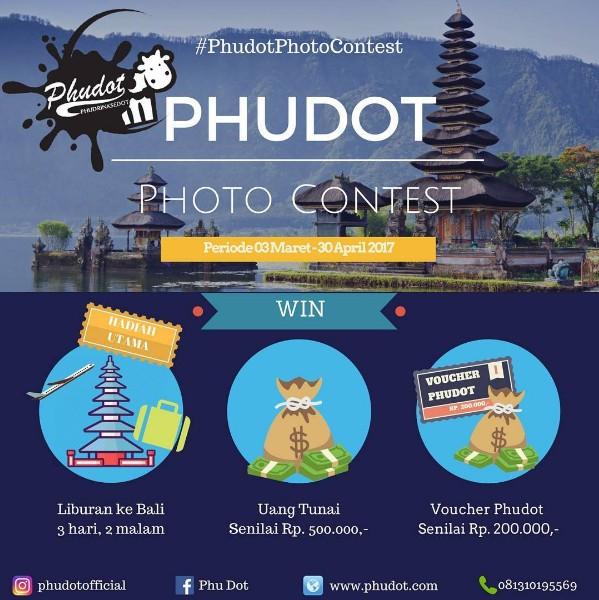 Phudot Photo Contest Berhadiah Liburan ke Bali, Uang Tunai & Voucher Gratis