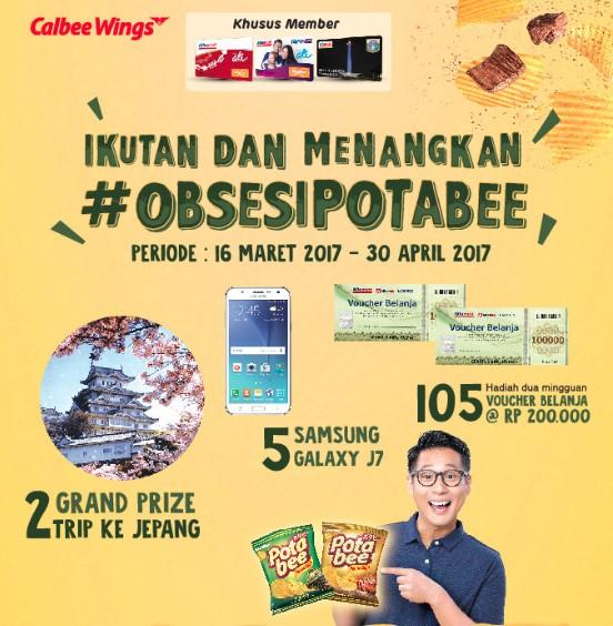 Promo Obsesi Potabee Berhadiah 2 Trip ke Jepang, 5 Samsung Galaxy J7 & 105 Voucher