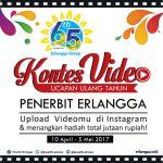 Kontes Video Ucapan Ulang Tahun Penerbit Erlangga ke 65