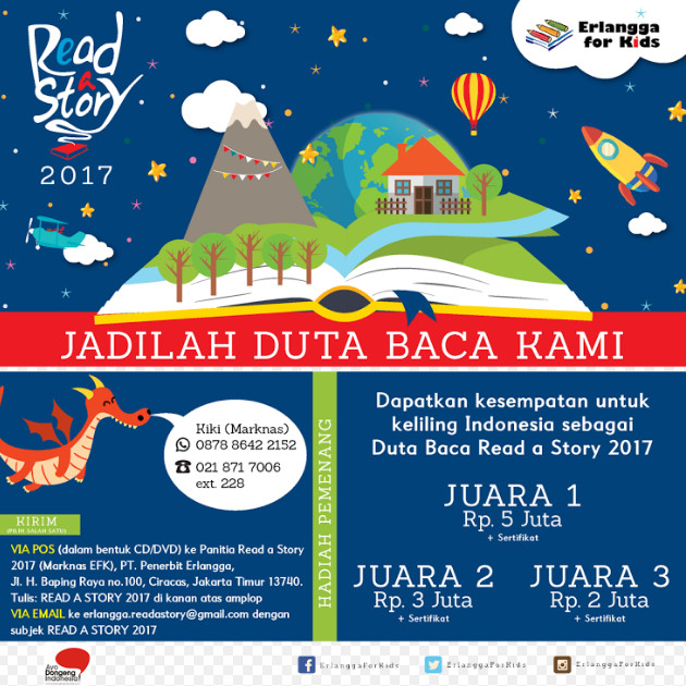 Lomba Video Read a Story Competition bersama Erlangga for Kids