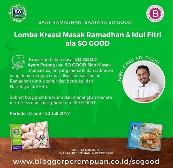 Lomba Kreasi Masak Ramadhan & Idul Fitri ala SO GOOD
