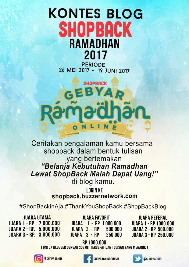Belanja Kebutuhan Ramadhan Lewat Shopback Malah Dapat Uang