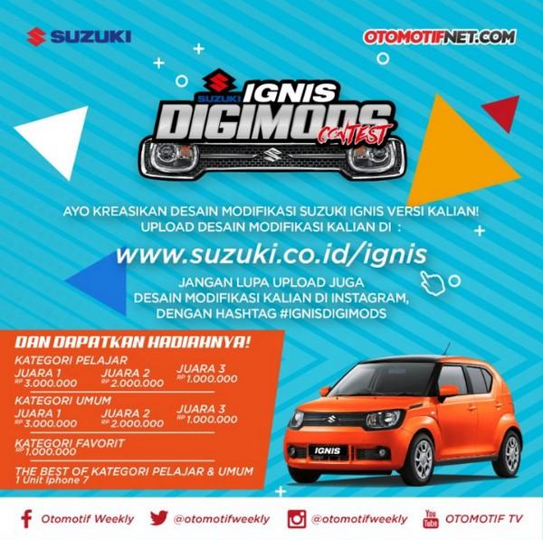 Kontes Desain Mobil Suzuki Ignis Berhadiah iPhone 7 dan Uang Total 11 Juta