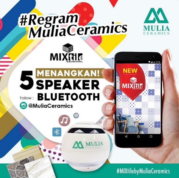 Kuis Regram Mulia Ceramics Berhadiah 5 Bluetooth Speaker Gratis
