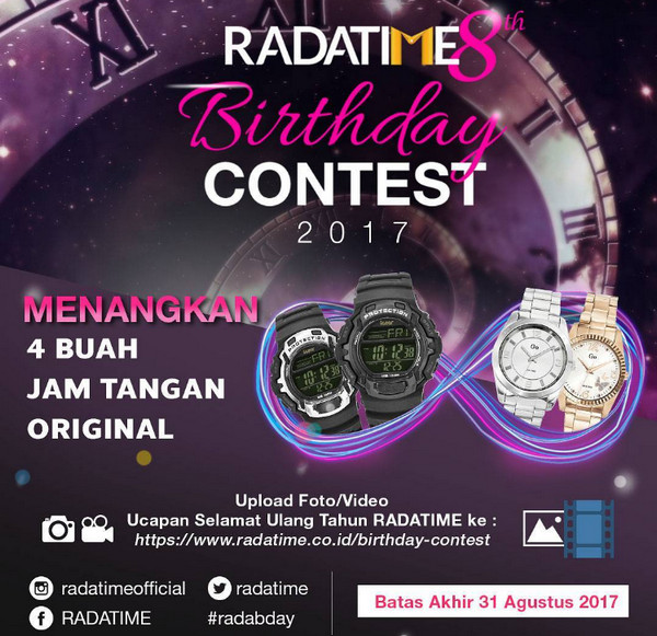 Radatime 8th Birthday Contest 2017