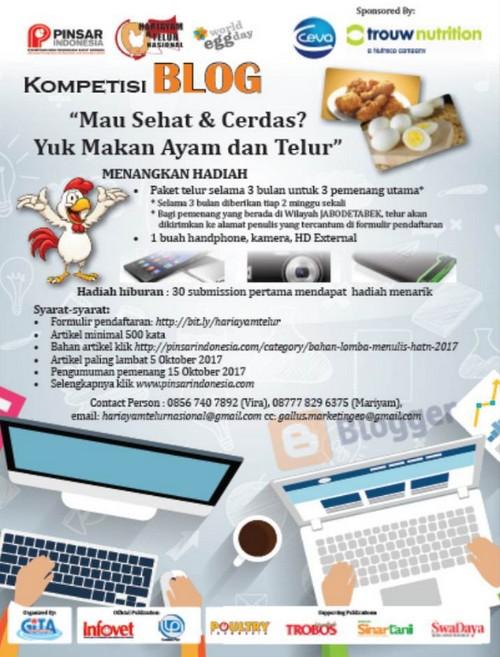 Lomba Blog Makan Ayam Telur Berhadiah Smartphone, Kamera, Harddisk, dll